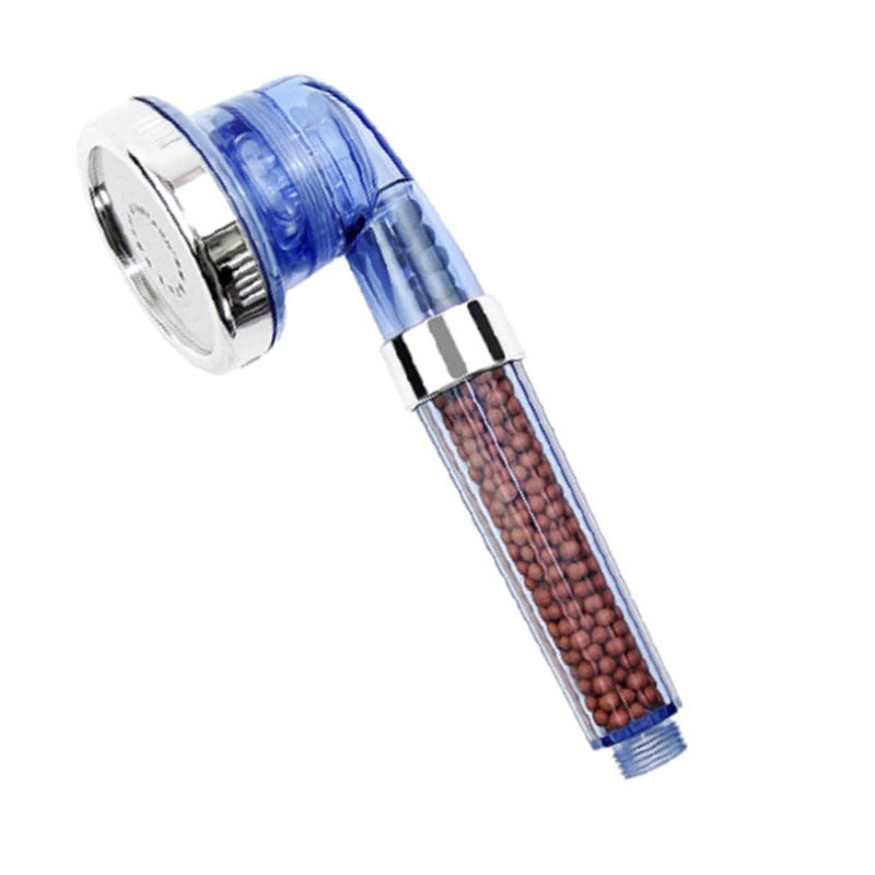 Hot Bath Shower Head High Pressure Boosting Water Saving Filter Balls Beads Utility Head With Negative Ion Activated NE