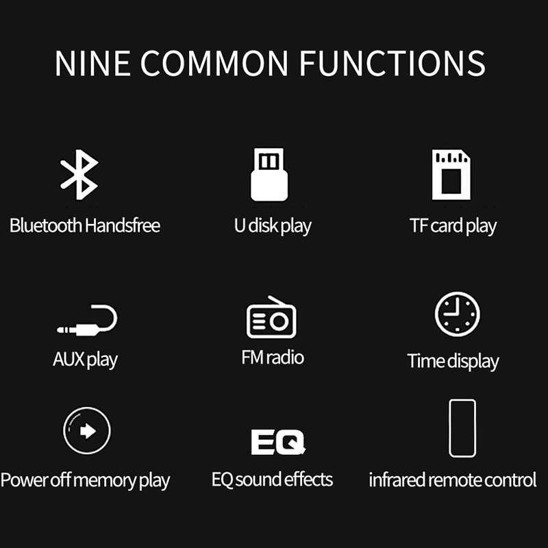 車ラジオ 1 Din Autoradio Bluetooth 12 12v 車ステレオ 1din FM Udisk TF USB AUX Eq のサウンド効果 Mp3 プレーヤー自動ラジオリモートコントロール