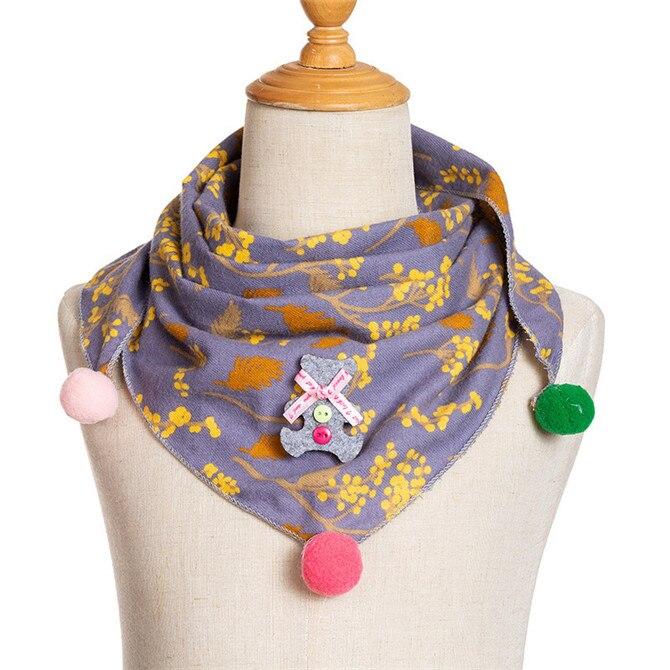 Весенние клетчатые треугольные шарфы в горошек для маленьких девочек; осенне-зимняя шаль для мальчиков и девочек; Детские хлопковые воротники; теплый детский шейный платок - Цвет: A9