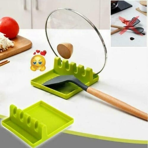Spatula Holder Spoon Rest Solid Utensil Multifunction Storage Rack Practical Home Heat Resistant Kitchen Supplies Cooking Tools