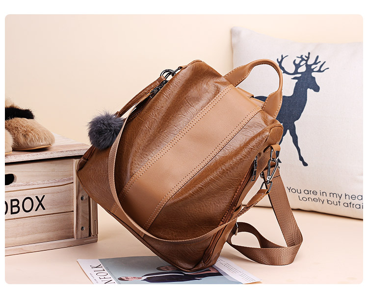 H98055bc9d2ba473ea6a19cec423a0005O 2019 Women Leather Anti-theft Backpacks High Quality Vintage Female Shoulder Bag Sac A Dos School Bags for Girls Bagpack Ladies