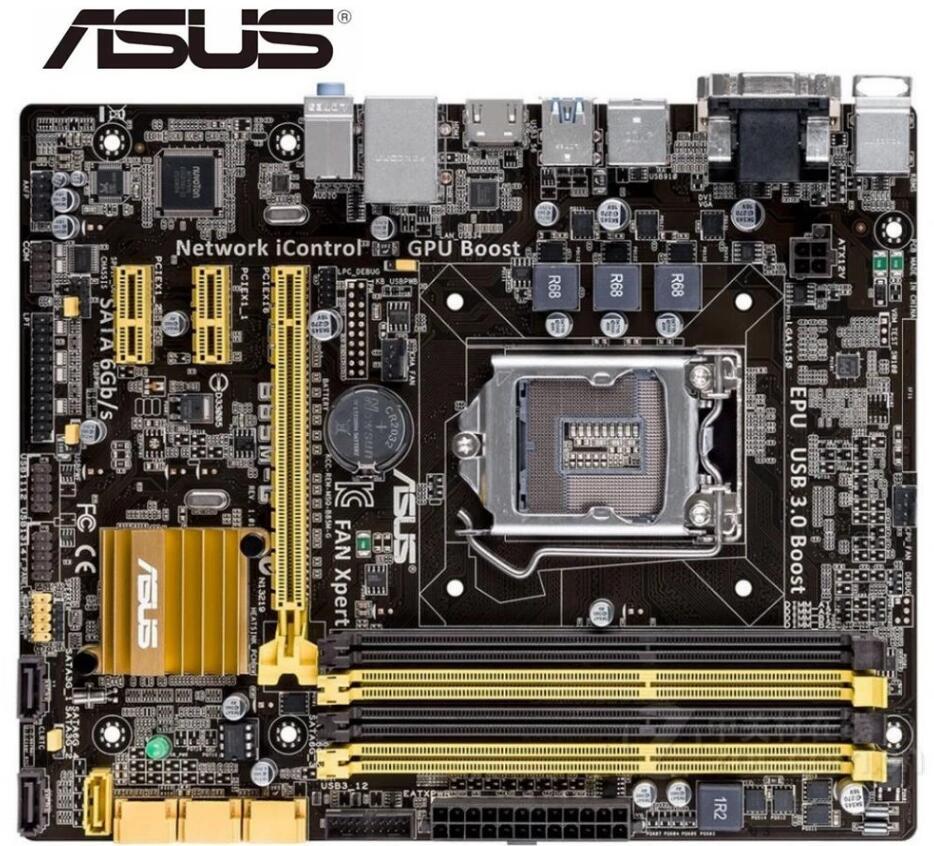 ASUS B85M-G LGA 1150 utilisé Carte Mère M-ATX B85M-G Systemboard B85M DDR3 Pour Intel B85 32GB Bureau Carte Mère USB3.0 SATA3