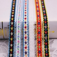 1Yards/Lot Lace Trim Embroidered Ribbon Clothing Accessories Latest Fabric Sewing Applique Material