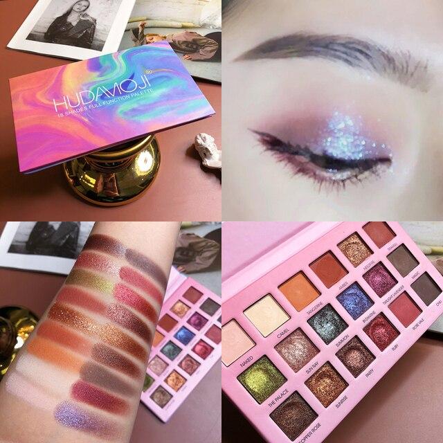 18 couleurs mat perle ombre à paupières Palette rayonnante paillettes ombre à paupières miroitant Pigment fard à paupières facile à porter maquillage des yeux TSLM2