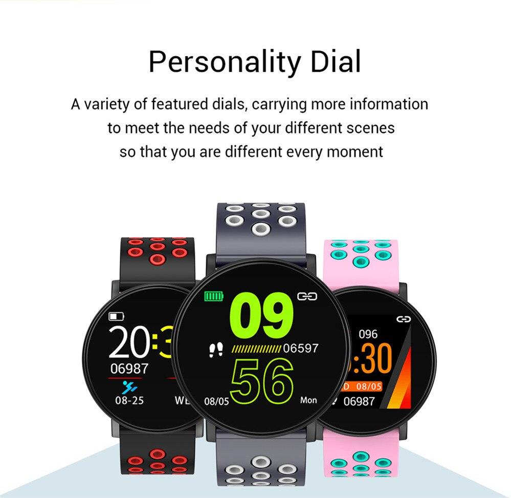 H9805960ff6f441f2bb6111a719e32d6bB Smart Fitness Bracelet Blood Pressure Measurement Fitness Tracker Waterproof IP67 Smart Band Watch Heart Rate Monitor Pedometer