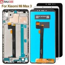 Xiao mi mi max 3 lcd 디스플레이 + 터치 스크린 새로운 디지타이저 유리 패널 교체 lcd xiao mi mi max 3 2160x1080 6.9 인치