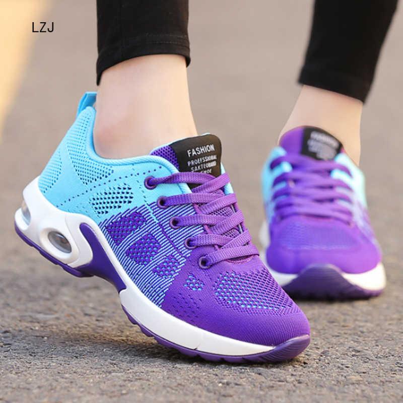 LZJ yeni Platform Sneakers ayakkabı nefes alan günlük ayakkabılar kadın moda yüksekliği artan bayanlar ayakkabı artı boyutu 35-42 2019