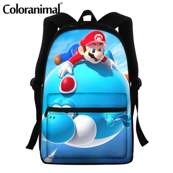 Coloranimal 2020 Japanese Anime Mario Design School Bags For Teenger Girls Boys Casual Backpacks Large Scool Bag Men Satchel 10