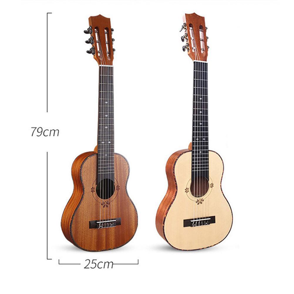 Unisexe 30 pouces palissandre nylon ficelle ukulélé guitare 6 cordes guitare instrument - 5