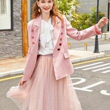 Зимние женские блейзеры элегантные куртки шикарные женские повседневные Костюмы с карманами хлопковое длинное пальто элегантный модный блейзер для женщин 095