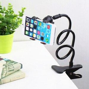 Universal Lazy Mobile Phone Gooseneck Stand Holder Stents Flexible Bed Desk Table Clip Bracket for Phone Flexible Stand Holder