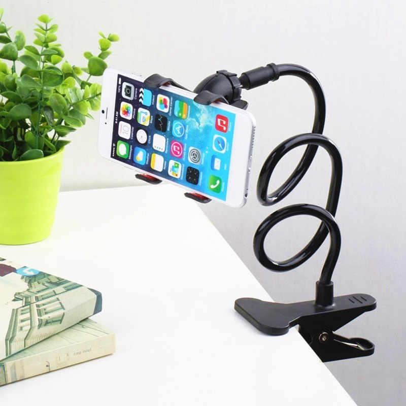 Universal Ponsel Gooseneck Dudukan Stent Fleksibel Tempat Tidur Meja Klip Bracket untuk Ponsel Fleksibel Stand Pemegang