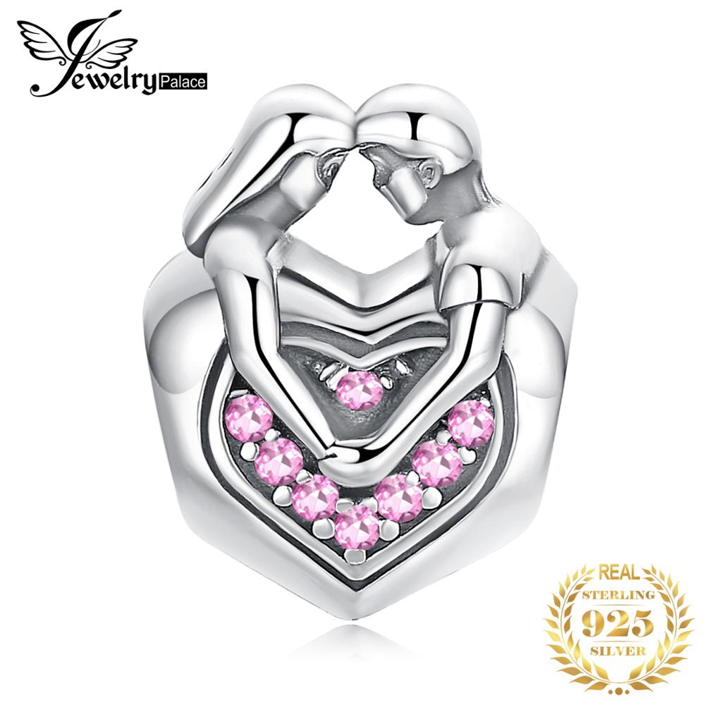 JewelryPalace Faithful Love 925 Sterling Silver Beads Charms Silver 925 Original For Bracelet Silver 925 original Jewelry Making(China)