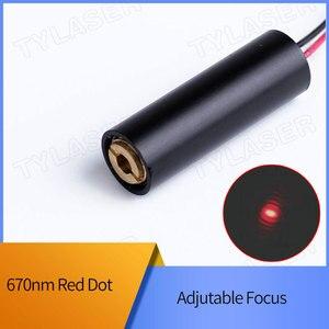 D10X30mm регулируемый фокус 670nm 0,5 mW 1mW 5mW 10mW красный точечный лазерный диодный модуль промышленный класс ACC драйвер TYLASERS