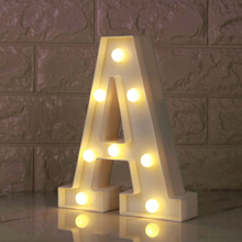 Luminous A-Z Alphabet Letter Light Battery Powered Lamp Night Light for Christmas Valentines Day Wedding Birthday Party Decor