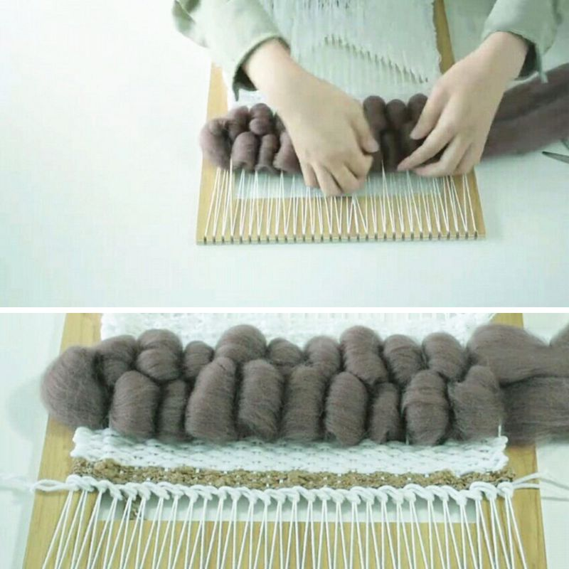 Kids Square Knitting Loom Board Kit Handheld Craft Weaving Tool For Children