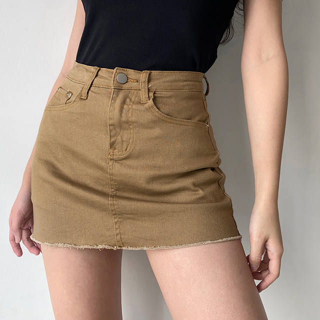 GOPLUS Women Denim Shorts Skirts High Waisted Shorts Black White Summer Clothes Mujer Female Jeans Spodenki Ropa Mujer C9806 3