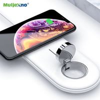 2 IN 1 QI 10W Dual Wireless Charger Pad For iPhone X XR XS MAX 8 Plus Magnetic Wireless Charging Station For Apple Watch 4 3 2 1