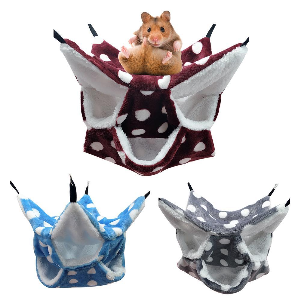 Drei-schicht Hamster Hängematte Dicke Warme Honig Tasche Geometrische Labyrinth Mezzanine Hängen Eichhörnchen Schlafsack Hängen Pet Nest