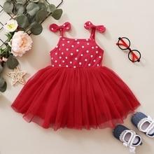 Комплект детской одежды для маленькой девочки, юбка-пачка для малышей летнее платье без рукавов, платья принцесс с бантом для младенцев из т...