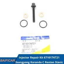 Baificar Brand New Genuine Injector Repair Kit 671017KT21 For Ssangyong Korando C Rexton Stavic