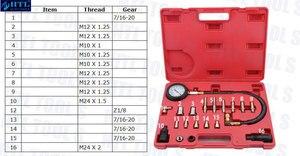 Image 2 - Automotive Werkzeuge TU 15A Diesel Engine Compression Tester Kit Motor Manometer 0 ~ 1000psi
