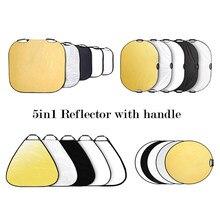 Selens refletor de fotografia refletor de 60/80/110cm 5 em 1, luz dobrável, refletor para fotografia refletor refletor