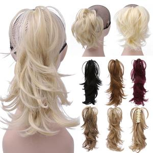 14inch Synthetic Claw Ponytail or Chignon Stylish Hair Exension Messy Wavy Pony tail Bun Hairpieces