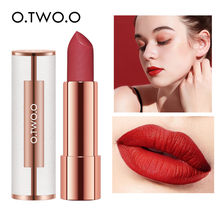 O.TWO.O Matte Lipstick Nude Brown Red Lips Makeup Velvet Silky Waterproof Moisturizing Smooth Long Lasting Lip Stick 12 Colors