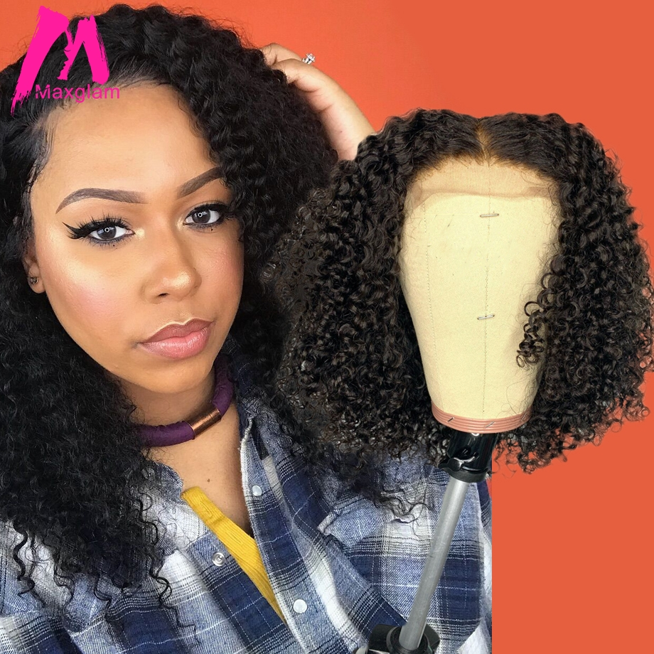 Lace Front Human Hair Wigs Afro Kinky Curly Brazilian 13x6 Bob Frontal Wig Short Long Natural PrePlucked For Black Women Remy