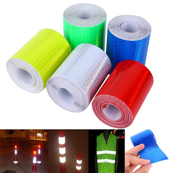 Warning Tape Strip Stickers Warning Light Reflector Protective Sticker Reflective Film Car Safety Mark Reflective 100cm X 5cm image