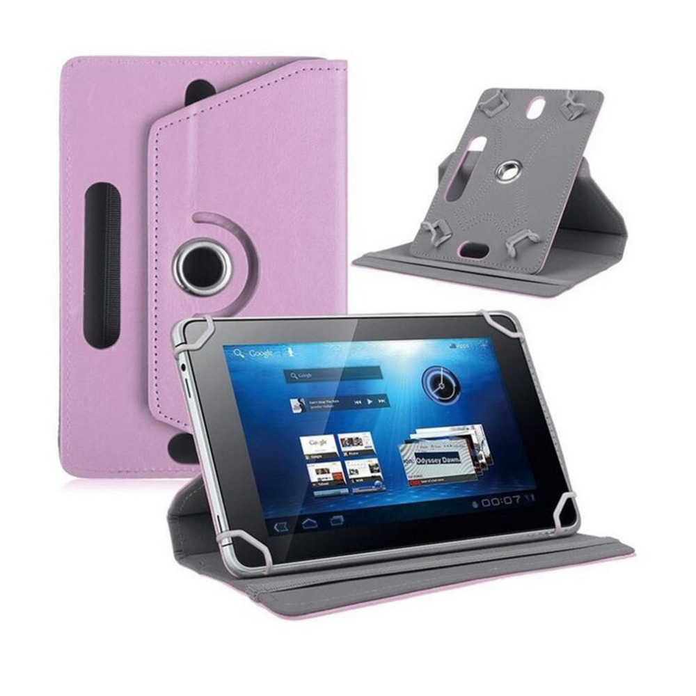 7 Inch Tablet Computer Case Three Hole Universal Four Corner Hook 360 Degree Rotating Leather Case