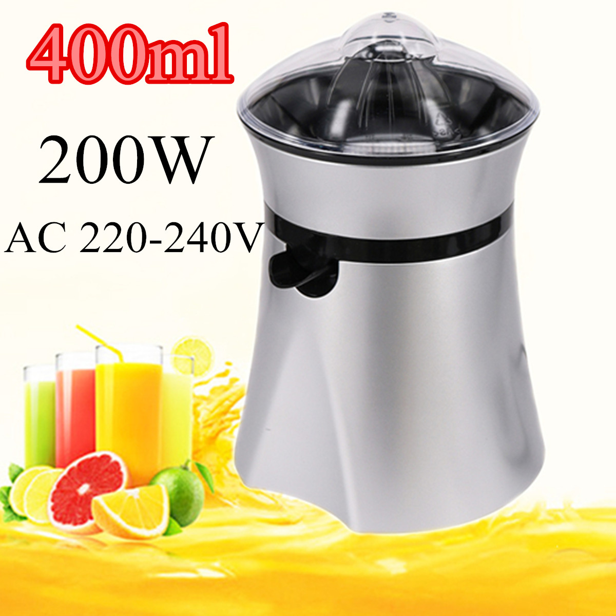 200W Electric Juicer Stainless Steel Citrus Orange Fruit Lemon Squeezer Juice Extractor Juice Presser Fruit Drinking Machine