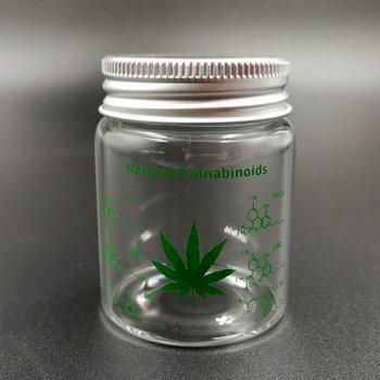 Weed Tobacco Storage Bottle Jar Glass Sealed Small Jar with Lid 1pcs weed tobacco storage bottle jar glass sealed small jar with lid 1pcs