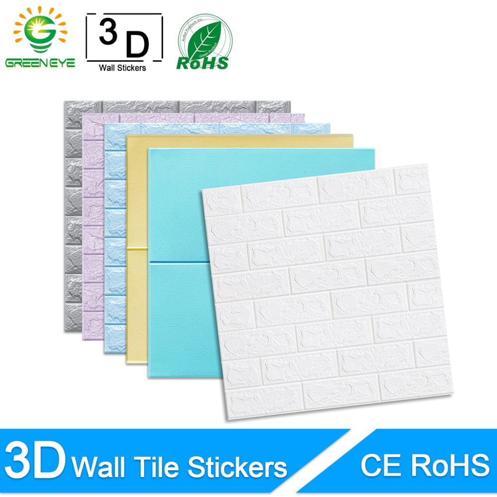 3D Wall Paper Marble Brick Peel And Self-Adhesive Wall Stickers Waterproof DIY Kitchen Bathroom Home Wall Decal Sticker Vinyl