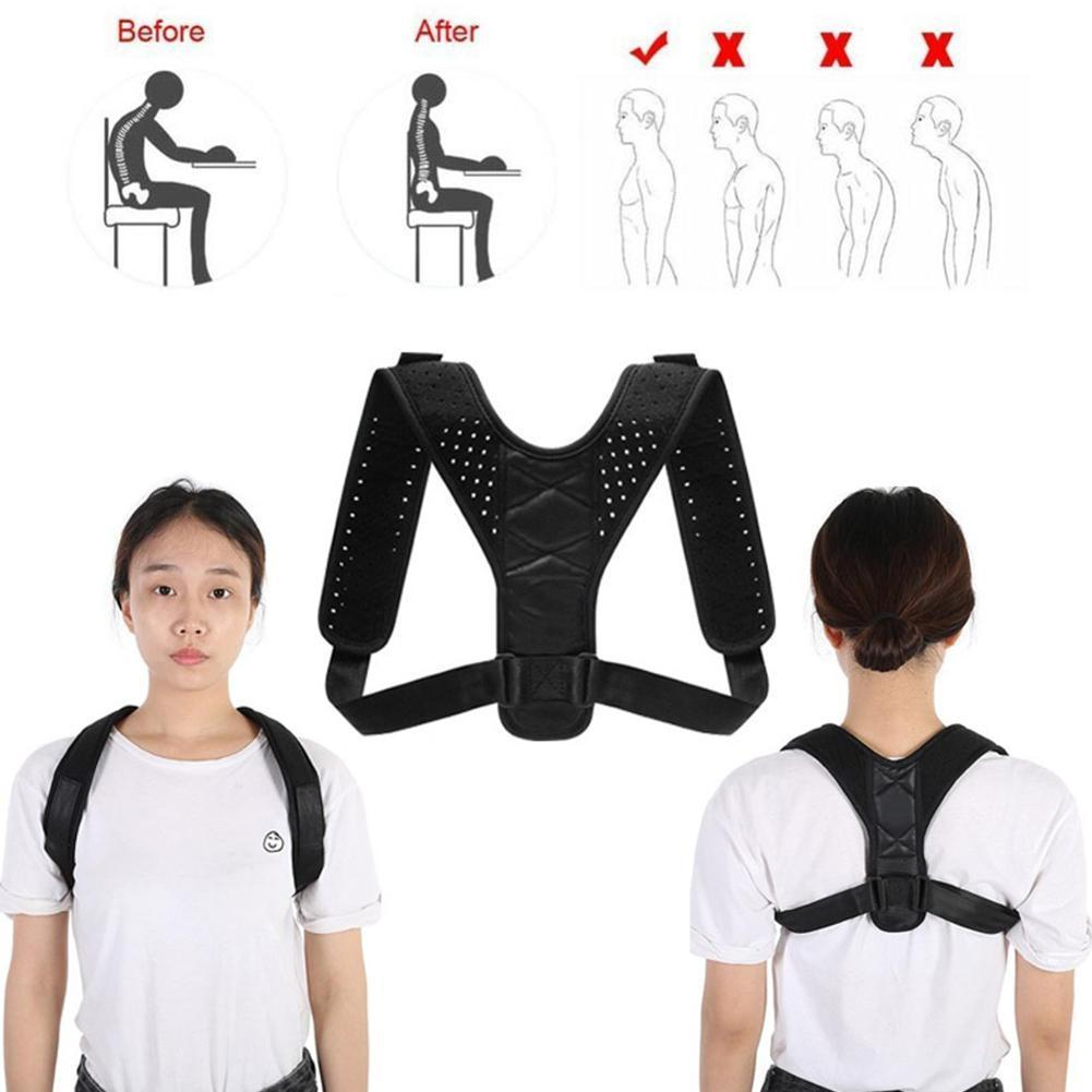 Posture Corrector Adjustable Back Fracture Support Men/women Back Clavicle Spine Shoulder Correction Brace Belt Strap|Back Support|   - AliExpress