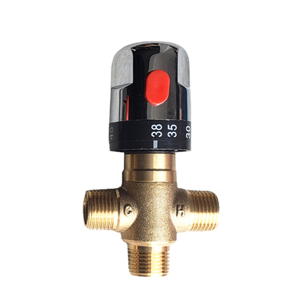 KBAYBO Constant Temperature Pipeline Valve 3-way Criss-cross Connector All Copper Body Water Heater Connectors Moisture Device