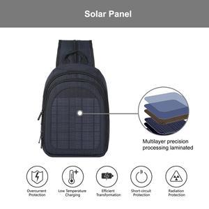 Image 2 - Haweel 5W Solar Panel Men Backpack Powered Backpack Usb Charging Anti Theft Laptop Travel Backpacks for Men Canvas Bagpack