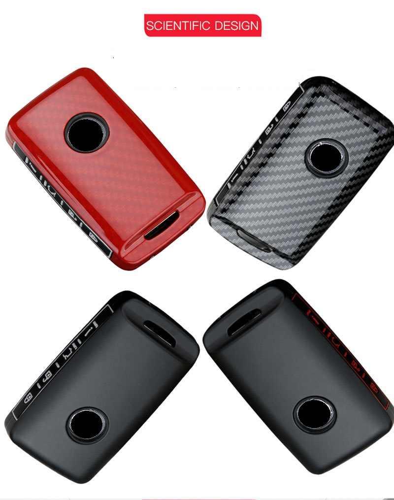 MWBLN Car Key Cover,Carbon Fiber+Silicone Car Key Cover Case,for Mazda 3 Alexa CX-30 CX30 CX5 CX 5 CX-5 CX8 CX9 CX4 2019 2020 Auto Accessories 3ButtonCarbonBlack