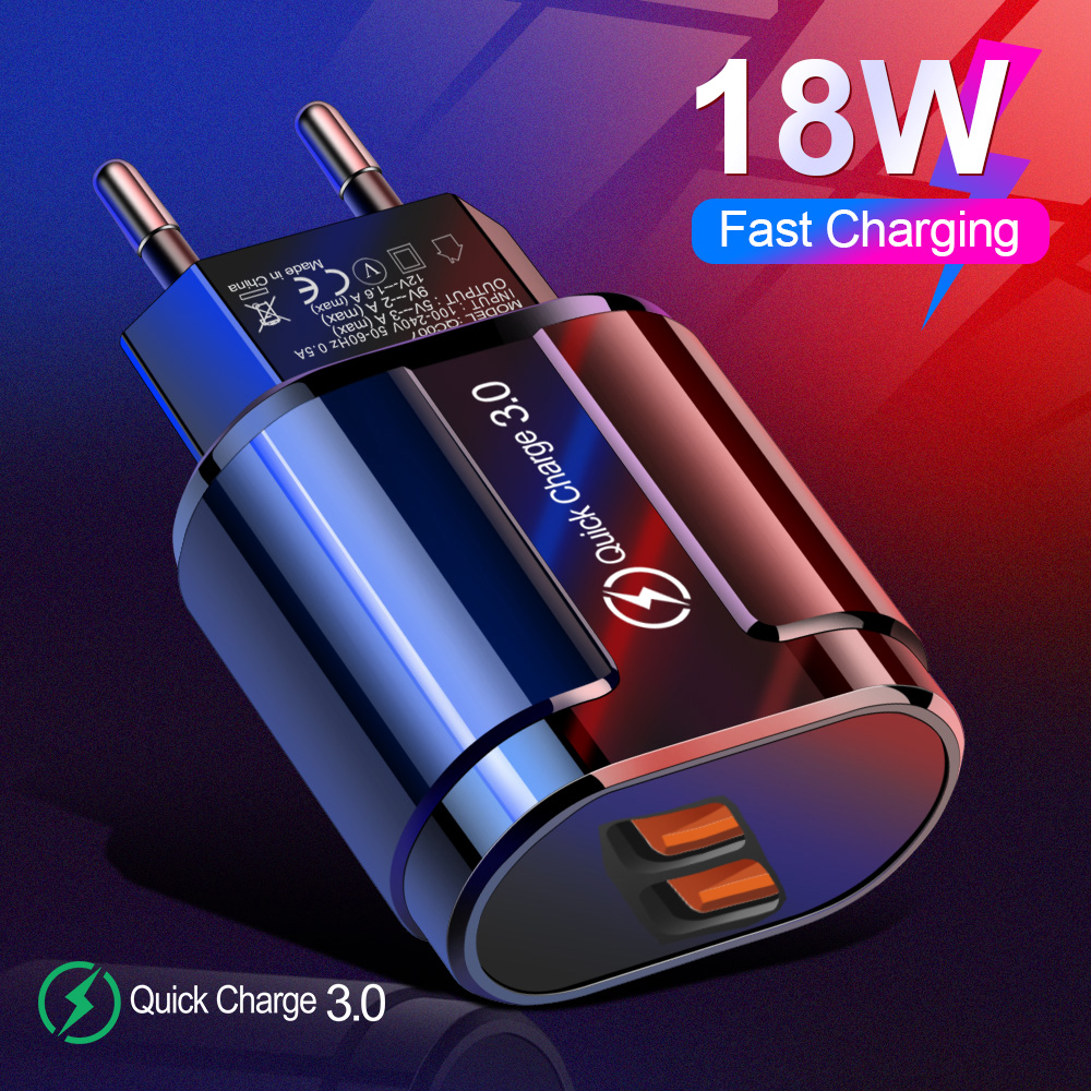 usb phone charger travel wall quick charge 3.0 fast charging adapter charger for iphone samsung s10 s20 plus tablet smart phone (1)