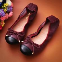 AUCVEE Genuine Leather Popular Genuine Leather Ballerina Flats Shoes