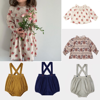 Kid flower dresses family matching clothing girls blouse kids clothing sets jumpsuit cloth girls clothes girls outfits christmas