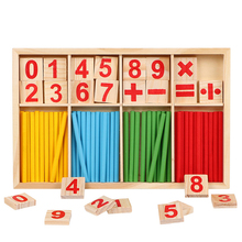 Montessori Education Mathematics Math Toys Arithmetic Counting Preschool Spindles Wooden Educational Toys For Kids Children wooden tray montessori learning math puzzle number montessori learning games education clock arithmetic counting toys baby math