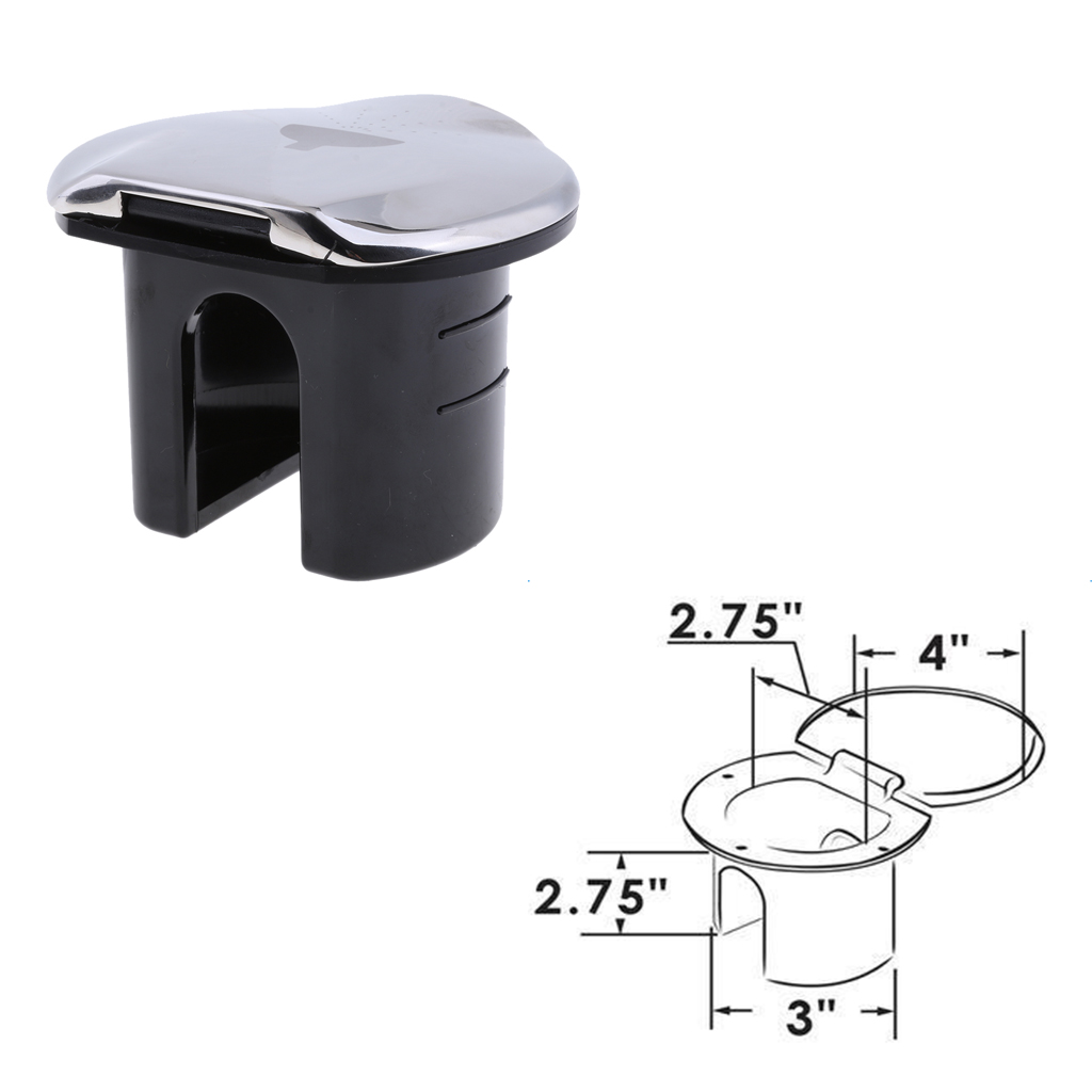Stainless Transom Shower Lid/Cup For RV Boat Marine 97014DSSP