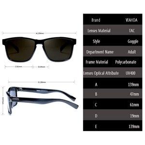 Image 3 - VIAHDA Polarisierte Sonnenbrille männer Retro Männlich Goggle Bunte Sonnenbrille Für Männer Mode Marke Luxus Spiegel Shades Oculos