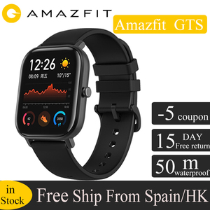 Глобальная версия Huami Amazfit GTS Смарт-часы GPS 5ATM водонепроницаемые умные часы Health Rate AMOLED 12 спортивные часы для xiaomi IOS