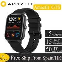 Versión Global Huami Amazfit GTS reloj inteligente GPS 5ATM impermeable reloj inteligente de Salud de AMOLED 12 deportes para xiaomi IOS