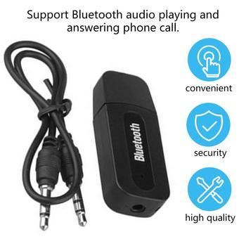 USB Car Adapter 3.5mm Jack Receiver Wireless AUX Audio MP3 Music Player Handsfree Car Tool image
