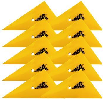 10pcs Car Vinyl Film Wrapping Tools Yellow Scraper Triangle Go Corner Squeegee Car Styling Stickers Accessories 10A48 carcardo 40cm x 200cm car headlight taillight tint vinyl film sticker car smoke fog light viny stickers decals car styling