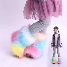 Детские зимние ботинки новые для маленьких девочек модные разноцветные